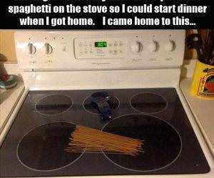 spaghetti is ready funny picture
