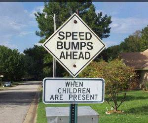 Speed Humps Sign funny picture
