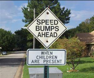 speed bumps ahead funny picture