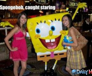 Spongebob Staring funny picture