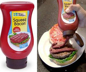 squeeze on bacon funny picture