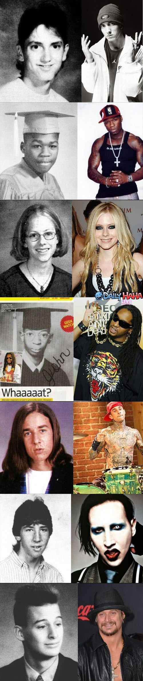 Stars Then and Now Funny picture