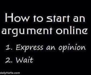 start an argument online funny picture
