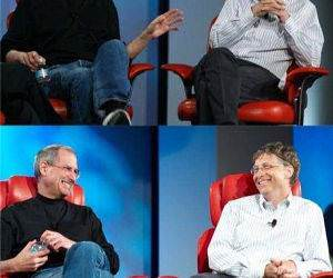 steve jobs and bill gates funny picture