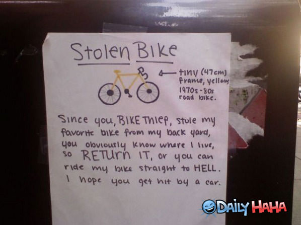 Stolen Bike funny picture