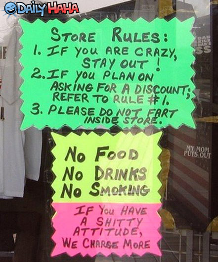 The Store Rules funny picture