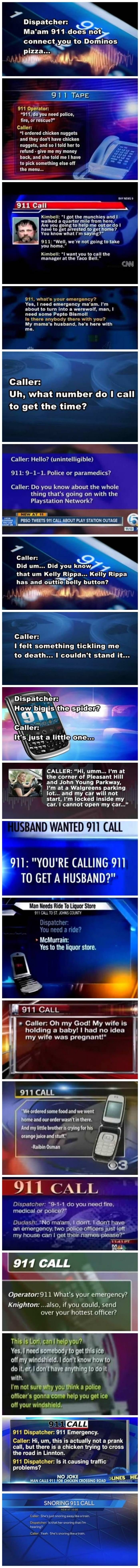 strange 911 calls funny picture