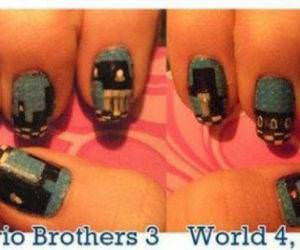 Super Mario Nails funny picture