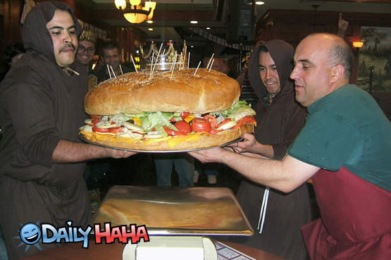 Giant Double Cheesburger Picture