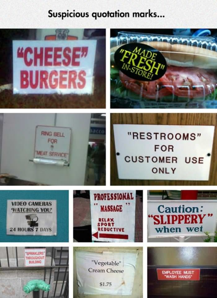 suspicious quotation marks funny picture