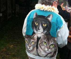 Triple Cat Swag funny picture