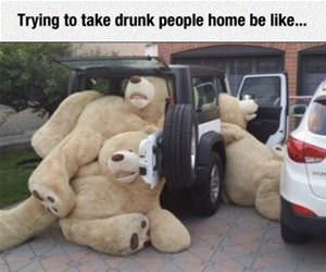 taking drunk people home funny picture