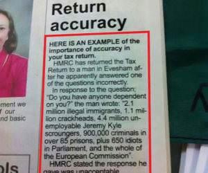 Tax Return funny picture