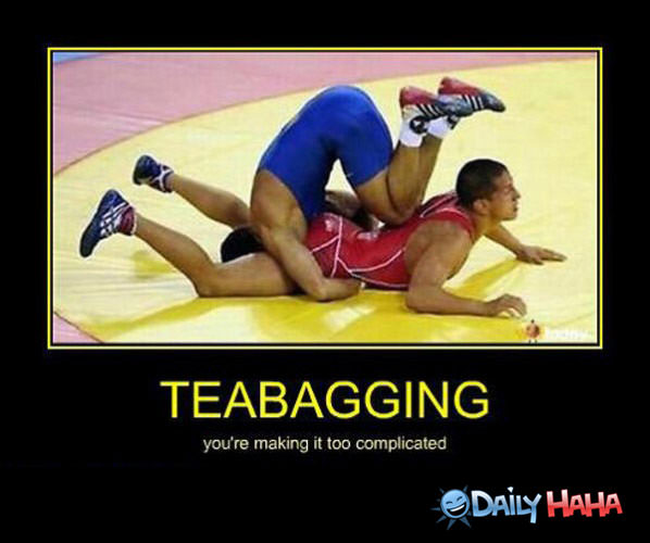 Teabagging funny picture