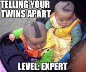 telling your twins apart funny picture