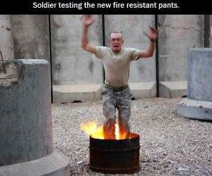 Fire Resistant Pants funny picture