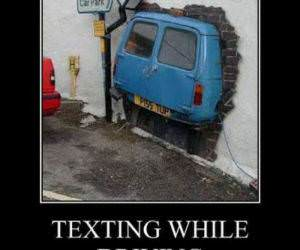 Texting While Driving funny picture