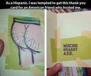 A Thank You Card funny picture