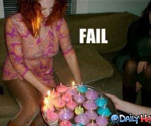 Birthday Fail funny picture