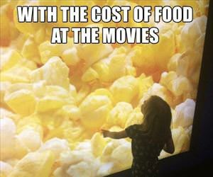 the cost of food at the movies