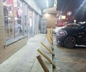 the parking in front of the liquor store ... 2
