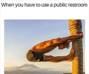 the public restroom
