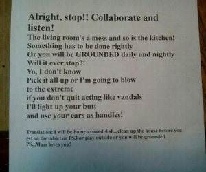 Chore Rapping Mom funny picture