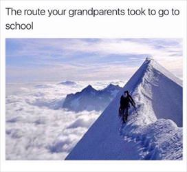 the route your grandparents took