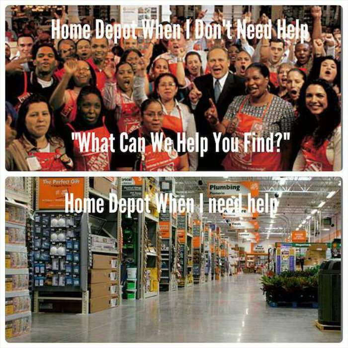 the way it always works at home depot