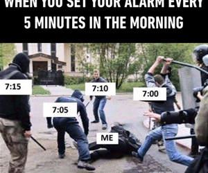 the alarm in the morning funny picture