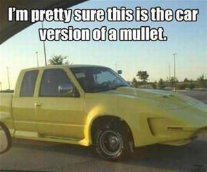 the car version of a mullet funny picture