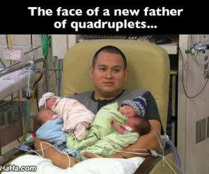 the face of a new father funny picture