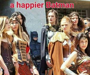 the happiest batman funny picture