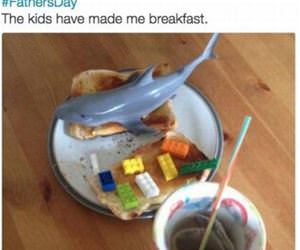 the kids made me breakfast funny picture