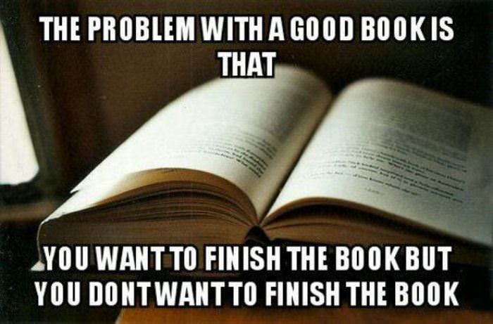 the main problem with a good book funny picture