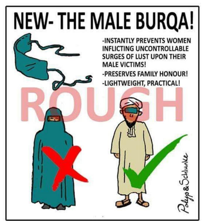 the male burqa funny picture