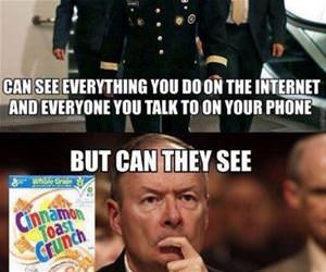the nsa can see everything funny picture