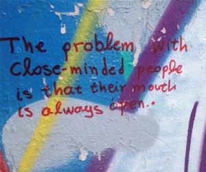 the problem with close minded people funny picture
