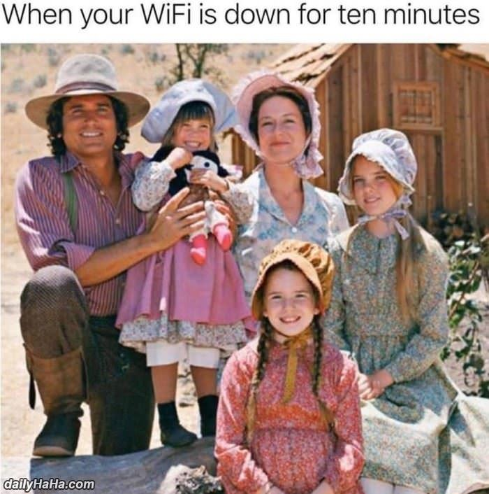 the wifi is down funny picture