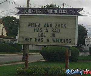 They Has Wedding funny picture