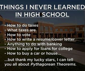 things i never learned in school funny picture