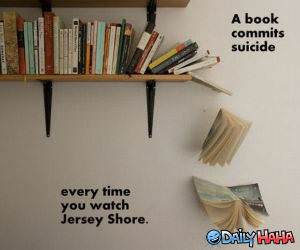 Depressed Books funny picture