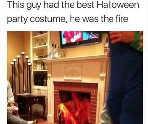 this costume is fire