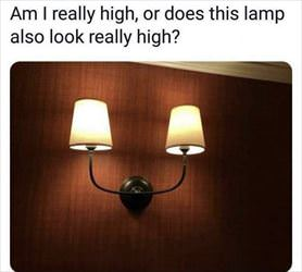 this lamp is very high
