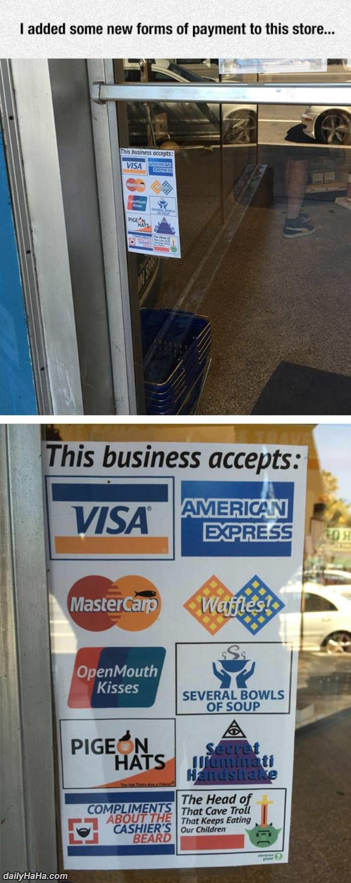 this business accepts funny picture