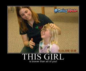 A Brave Girl Funny Picture