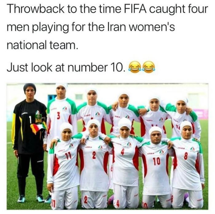 throwback to irans womens soccer