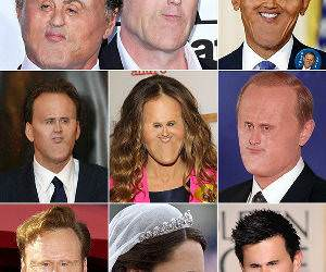 Tiny Celebrity Faces funny picture