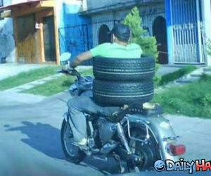 Tire Delivery funny picture