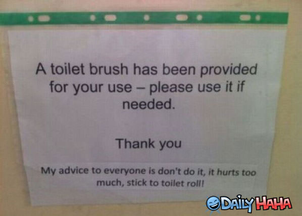 Toilet Brush funny picture
